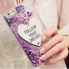 For iPhone 5 SE 6 6s 7 Plus TPU Bling Bling Glitter Heart Ice Cream Cover Case