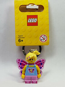 Choose Name You Want For Butterfly Girl Lego Keyring Personalised