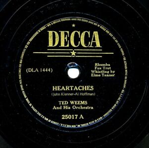 TED-WEEMS-and-his-Orchestra-on-Decca-25017-Heartaches-Oh-Monah