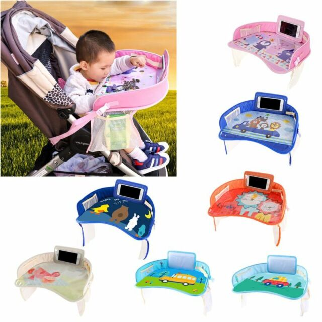 Kids Travel Tray Car Lap Desk Portable Activity Table For