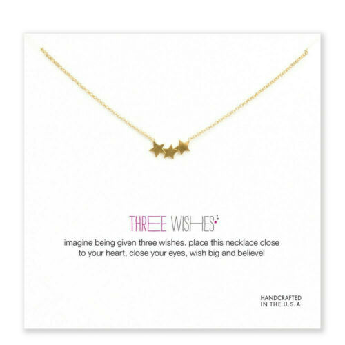 Dogeared Style Gold Dipped Three Wishes Necklace US Seller Free Shipping!