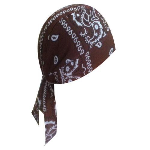 XL Motorcycle Wrap Biker Hat Do Adult Bandana Doo Rag Du Skull Cap Black Decor