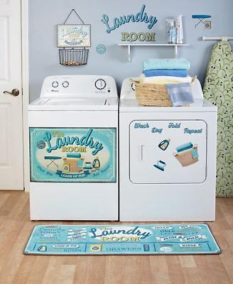 Lively Laundry Room Decor Accents Door Magnet Wall Decals Basket Window Valance Ebay