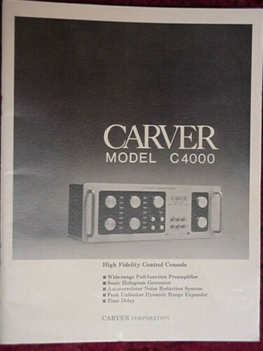 CARVER C-4000 PREAMPLIFIER OWNER MANUAL 40 Pages