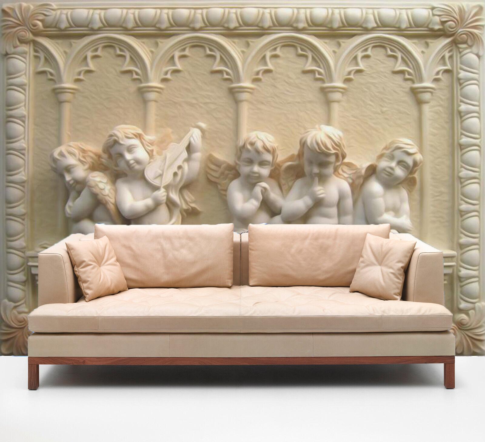 3D Hof Engel Muster 7998 Tapete Wandgemälde Tapeten Bild Familie DE Kyra | Merkwürdige Form  | Hat einen langen Ruf  | Schön In Der Farbe