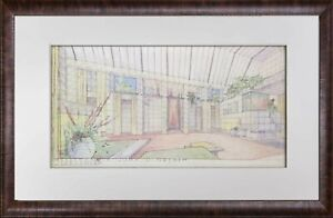 Frank-Lloyd-WRIGHT-Lithograph-SIGN-034-Sijistan-034-Remodel-for-Charles-Ennis-House