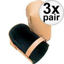 Custom Leathercraft 309 3 Top Grain Leather Construction Knee Pads 3x