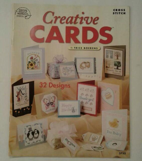 Creative Cards American School Needlework ~ Counted Cross Stitch 32 Designs