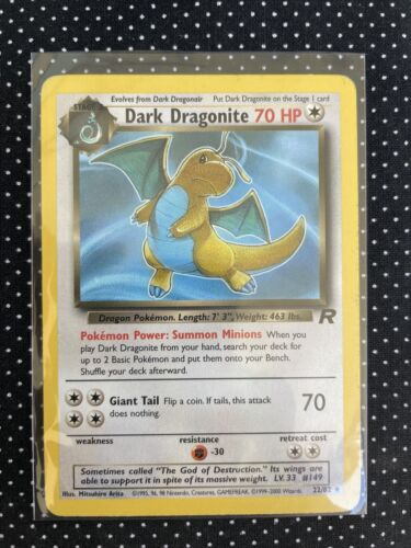 Dark Dragonite - 22/82 - Rare NM Team Rocket Pokemon MINT +