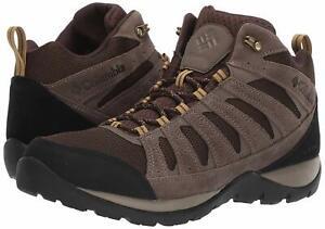 Columbia-Men-039-s-Redmond-V2-Mid-Waterproof-Hiking-Shoe-Cordovan-Baker-Size-13-0