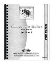 Minneapolis Moline Jet Star Iii G Lp Amp Diesel Tractor Parts Manual