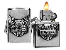 Zippo Lighter 20230 Street Chrome Harley Davidson Iron Eagle Emblem Classic NEW