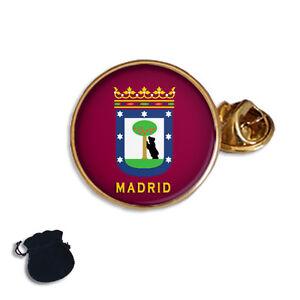 CITY OF MADRID FLAG COAT OF ARMS SPAIN  ENAMEL LAPEL PIN BADGE GIFT