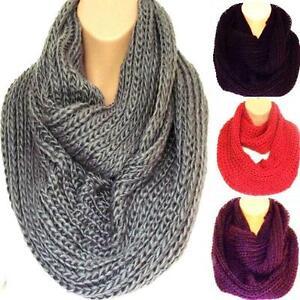 c5fdd0b212e4e New Stock!! Super Chunky Knit Circle Loop Infinity Scarf Snood Grey ...
