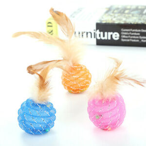 Pet-Cat-Toy-Cat-Line-Ball-With-Feather-Line-Tube-Ball-Pet-PL