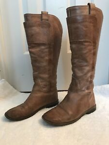 1a0941425643 Image is loading Frye-Womens-Paige-Tall-Leather-Riding-Boots-Tan-