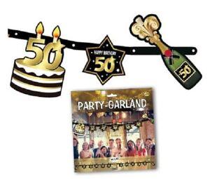 Dettagli Su Festone 50 Anni Lungh 2 10 Mt Addobbi Per Festa 50 Compleanno
