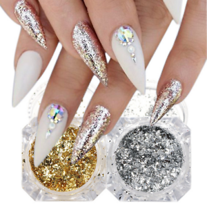 BORN-PRETTY-Gold-Silver-Glitter-Nail-Sequins-Irregular-Paillette-Powder-Flakes