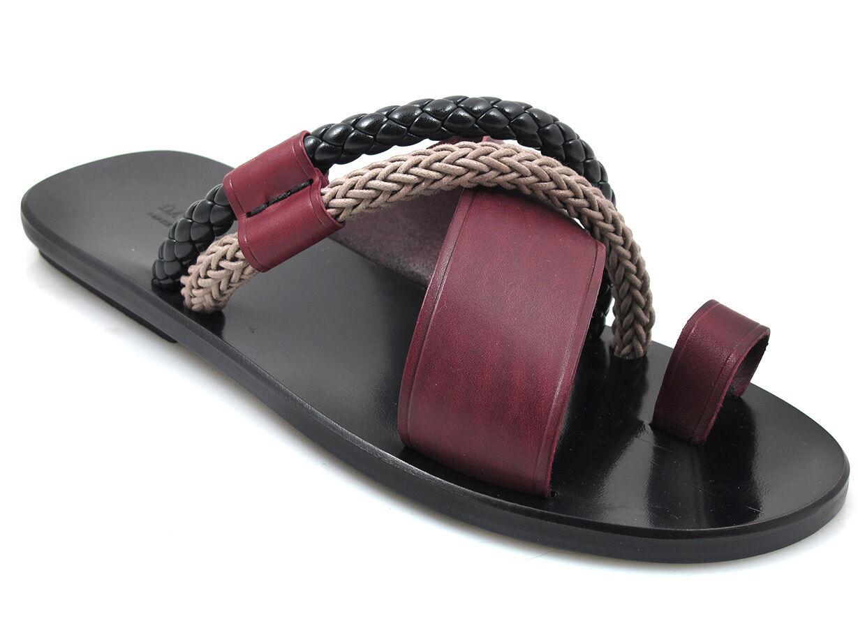 Davinci Men's 2443 Italian Leather Push In Toe sandals