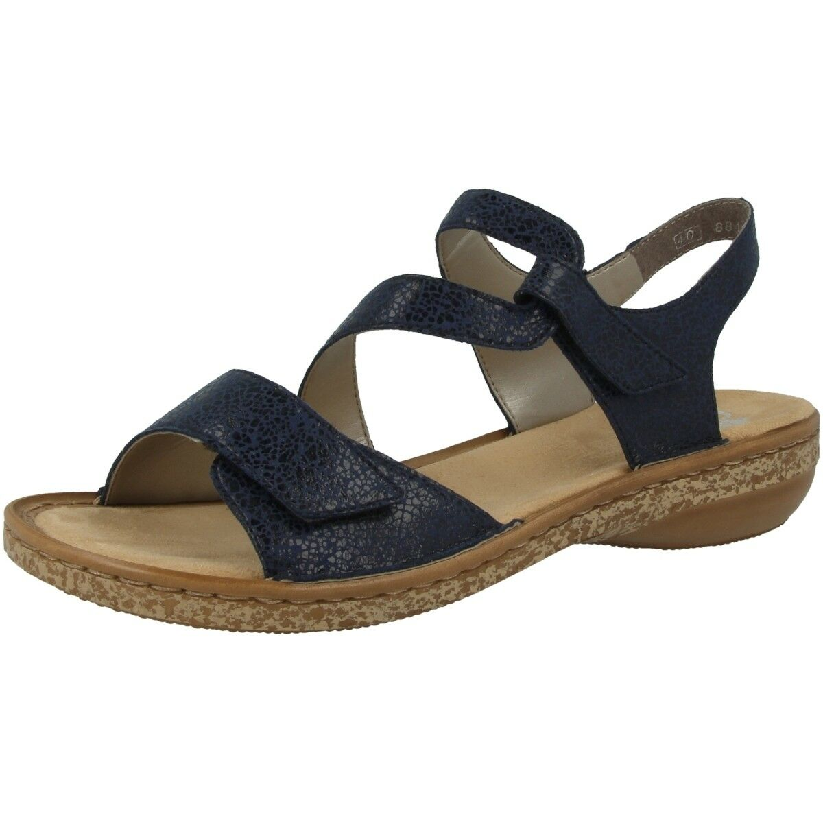 Rieker Cresta damen Damen Schuhe Antistress Sandalen Sandaletten navy 628J1-14