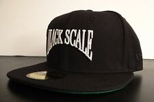 BLACK SCALE X NEW ERA SCRIPT FRONT LOGO MENS HAT FITTED HAT SIZE 7 5/8 60.6 cm