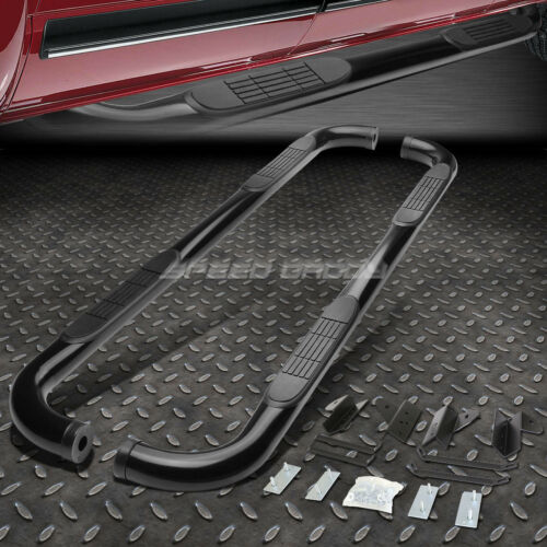 "FOR 01-03 FORD F150 CREW//SUPERCREW CAB BLACK 3/""SIDE STEP NERF BAR RUNNING BOARD"