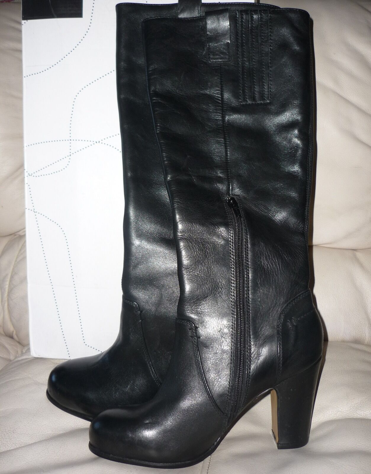 Bronx Negro botas De Cuero Genuino Talla 9 Nuevas Nuevas Nuevas  80 al por menor  189.99  tienda de venta en línea