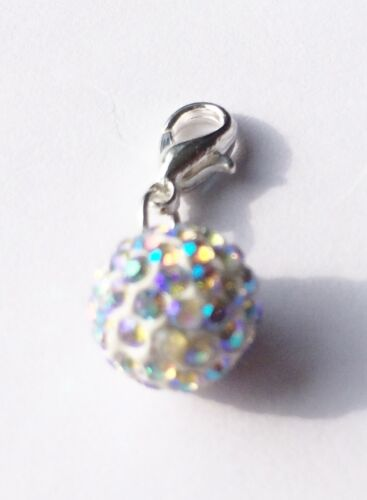 Pave bola de cristal AB claro 10mm clip en encanto-Cristales Checos-Nuevo