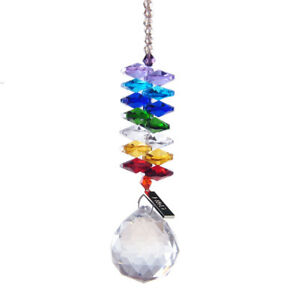 Handmade-Rainbow-Suncatcher-Crystal-Window-Glass-Ball-Prisms-Hanging-Home-Decor