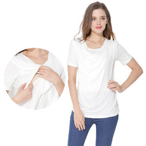 9d02dcc42e Image is loading Maternity-Clothes-Nursing-Tops-Breastfeeding-T-shirt-For-