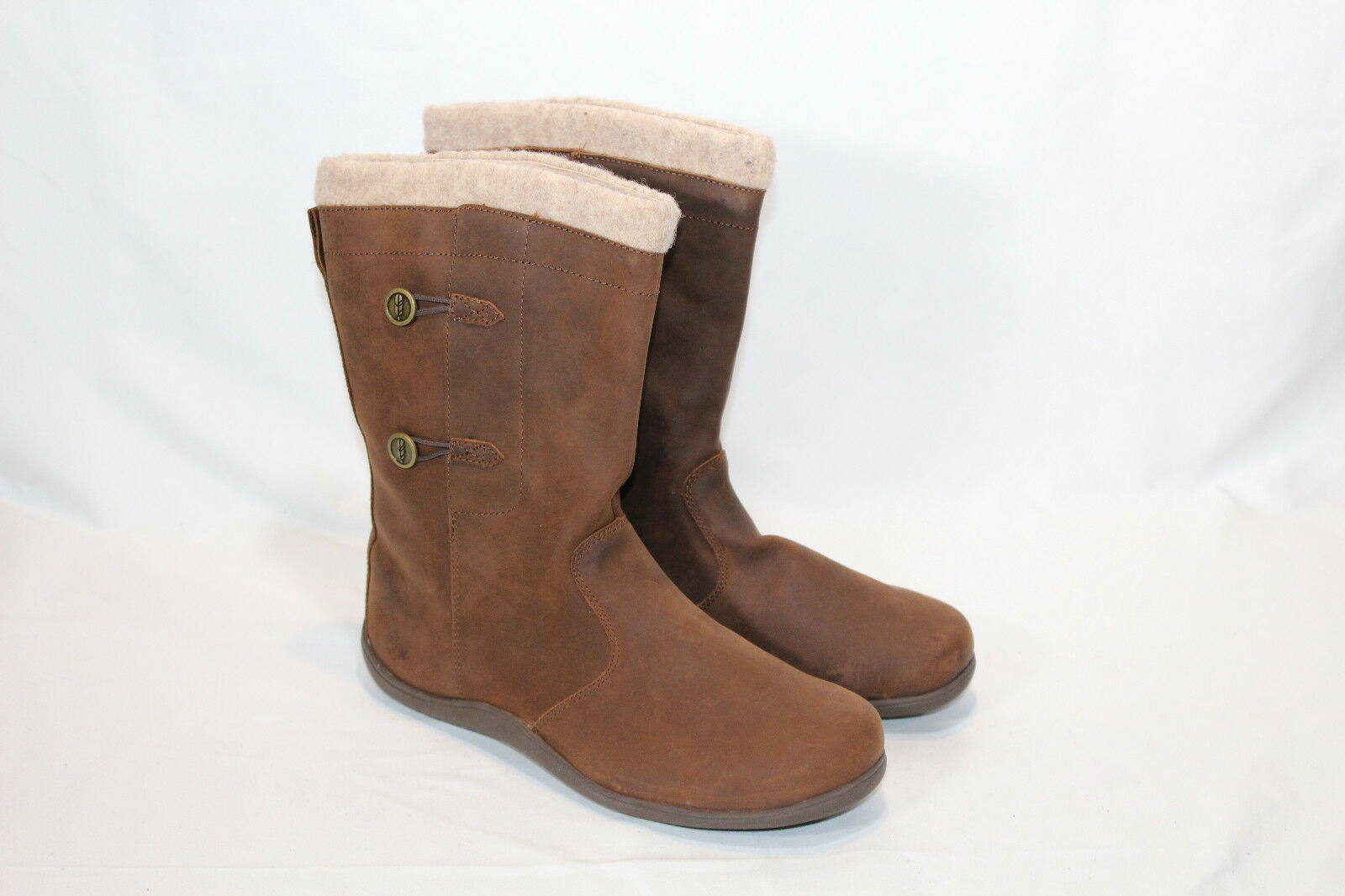 Sabara 9 medium brown leather winter boots
