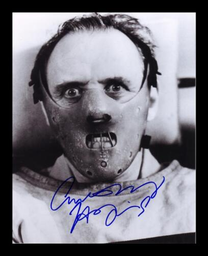 SILENCE OF THE LAMBS SIGNED /& FRAMED PP POSTER PHOTO ANTHONY HOPKINS