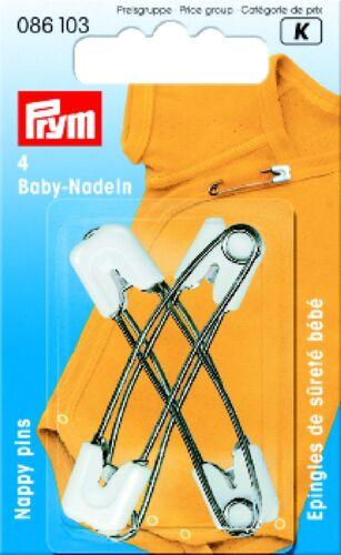 Pines de seguridad para bebés 55 mm rosa extra seguro de Prym