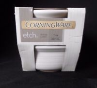 2 Corning Ware French White Stoneware Ramekins 7oz Square