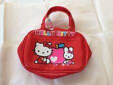 Sanrio Apple Hello Kitty Hand Bag Red Zipper Closure QQ