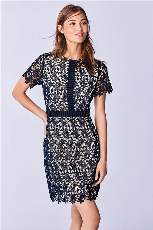 NEXT pizzo pizzo pizzo Shift Dress 18 27526c