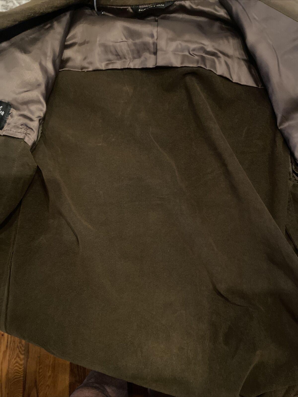 vintage Halston ultrasuede shirt jacket 40R brown… - image 7