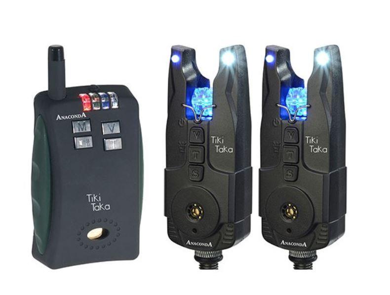 ANACONDA elektrische Bissanzeiger Tiki Tiki Tiki Taka 2er Funkset rot - blau e10787