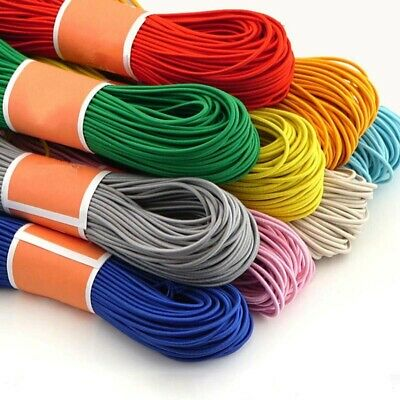 Round Elastic Band Trim Rope Stretch Knit Thin Slim DIY Sewing Soft Cord 10M 3mm