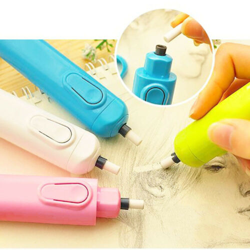 Automatic Electric Eraser With 20 Refills Set Children School Stationery Supply