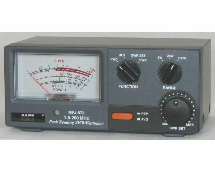 New MFJ-872 Grandmaster SWR/Wattmeter, 1.8-200 MHz, 5 - 20 - & 200 Watt Range.