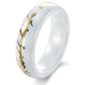 image is loading lord of rings lotr ring white black ceramic