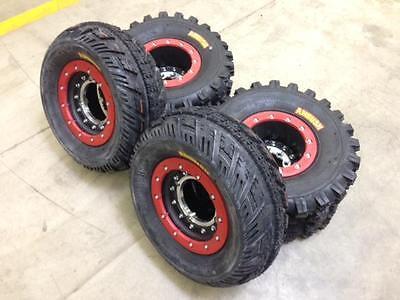 Hiper Tech 3 Beadlock Wheels + CST Ambush Tires Front/Rear XC Kit YFZ450R YFZ450