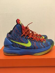 brand new 5127c 2472f Image is loading Nike-Zoom-KEVIN-DURANT-KD-V-5-CHRISTMAS-