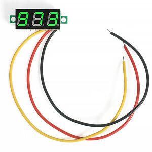 Green-Mini-DC-0-100V-LED-3-Digital-Diaplay-3-Wire-Voltage-Voltmeter-Panel-Meter