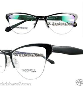 Women Cat eye Eyeglass frame metal+acetate Optical lens ...