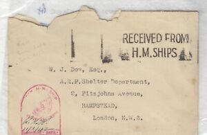 GB-1942-HM-Ships-Letter-A-amp-H-Type-2057-With-Place-Stamp-Blank-Cover-PH-J4052