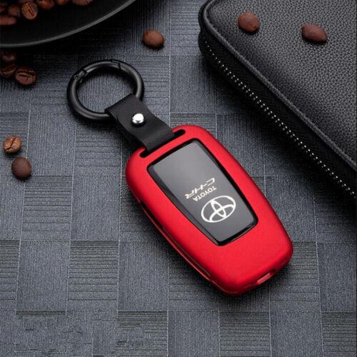 Fit For 2019 Toyota Corolla Hatchback Red Aluminum Case Cover Car Key Holder