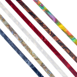 6-Pcs-Colorful-Celluloid-Guitar-Binding-Purfling-5-feet-10mm-Width-1-5mm-Thick