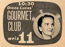 1958 Wpix Tv Ad~Dione Lucas Gourmet Club~Egg Basket Restaurant~Le Cordon Bleu